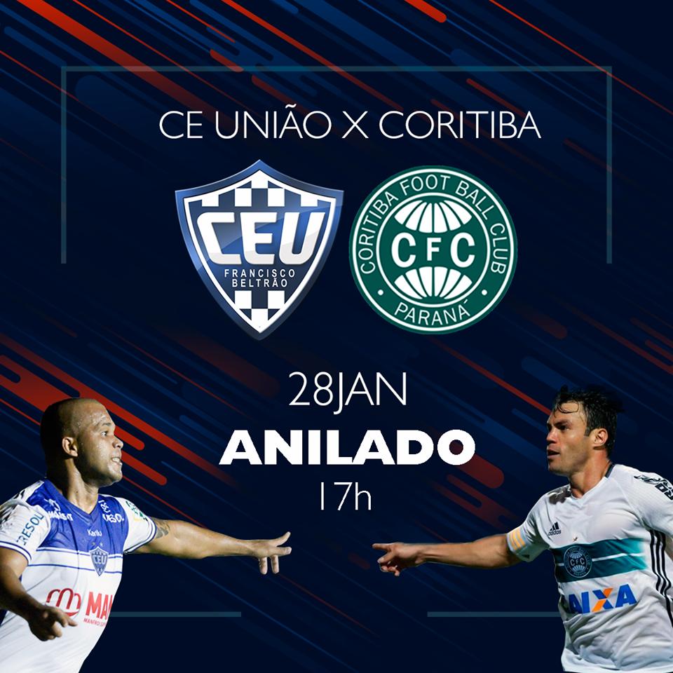 União enfrenta o Coritiba pela terceira rodada do paranaense