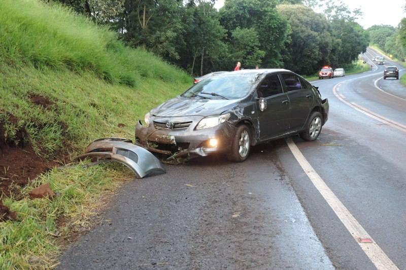 PRF registra dois acidentes na BR-158 em Coronel Vivida