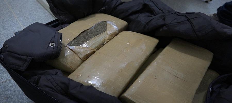 Polícia de Palmas localiza 11 quilos de maconha em uma mala