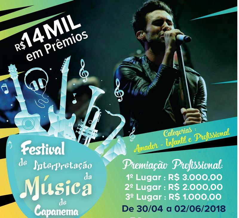 Festival em Capanema oferece R$ 14 mil em prêmios