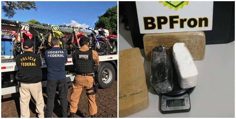 BPFron apreende contrabando e drogas no Sudoeste