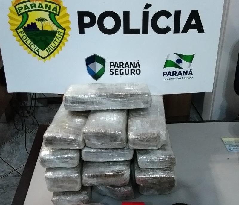 Rotam apreende quase 9 quilos de maconha em Francisco Beltrão