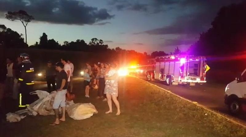 Pai e filho ficam feridos em acidente no Contorno Leste