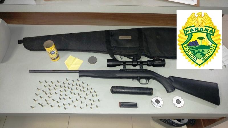 Arma e munições são apreendidas em Honório Serpa