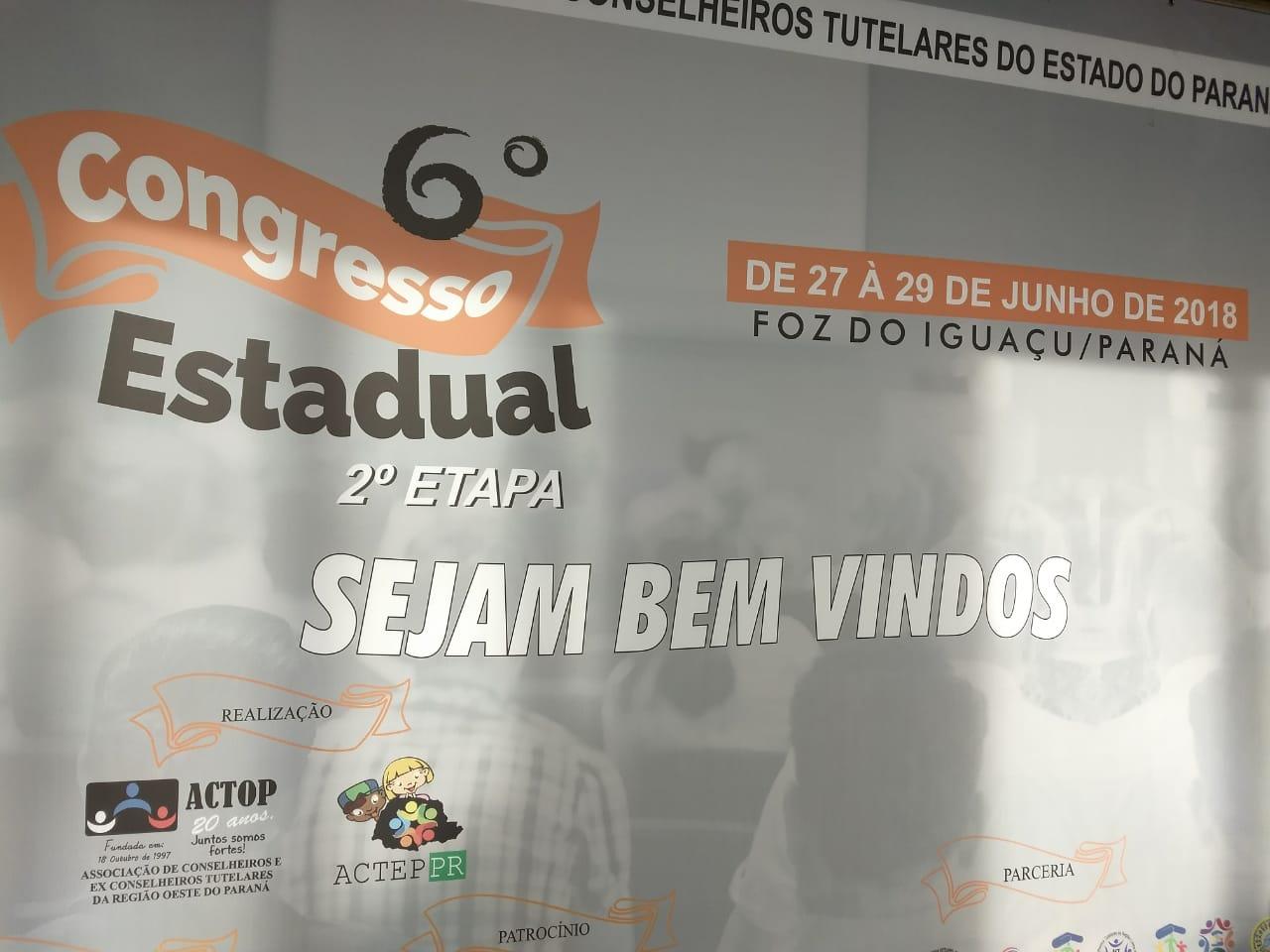 Conselheiros Tutelares de Palmas participaram de congresso em Foz do Iguaçu