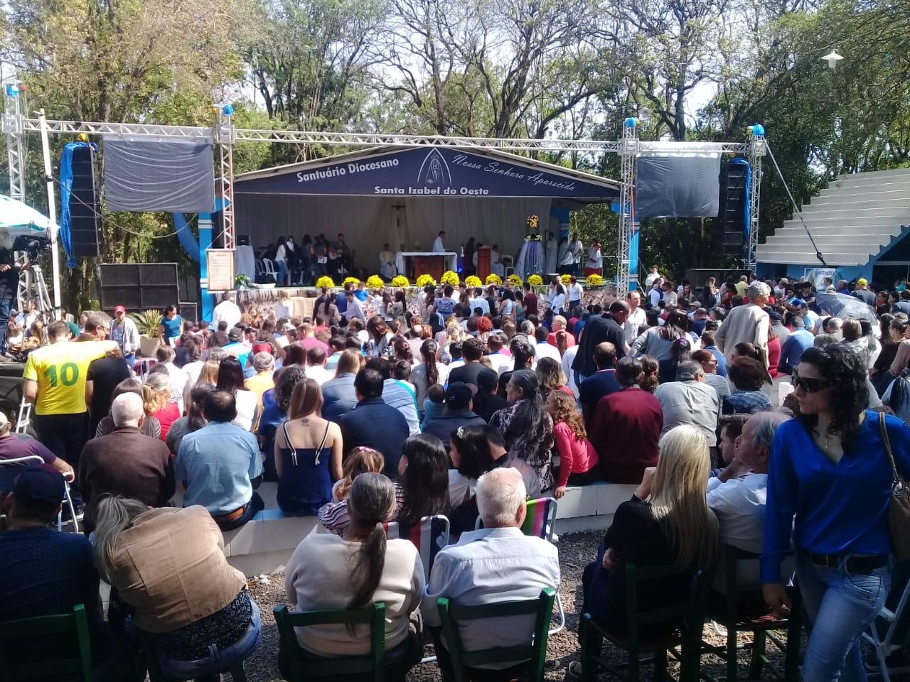 37ª Romaria ao Santuário Diocesano reuniu milhares de fiéis