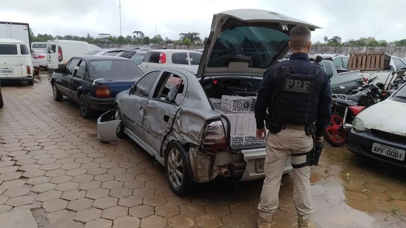 PRF apreende veículo carregado com vinho contrabandeado da Argentina