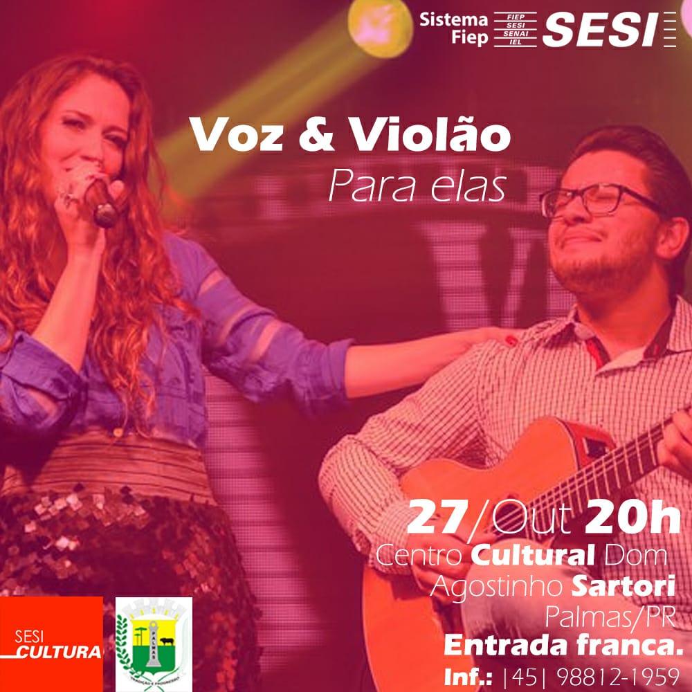 Palmas: Voz e Violão para Elas no Outubro Rosa