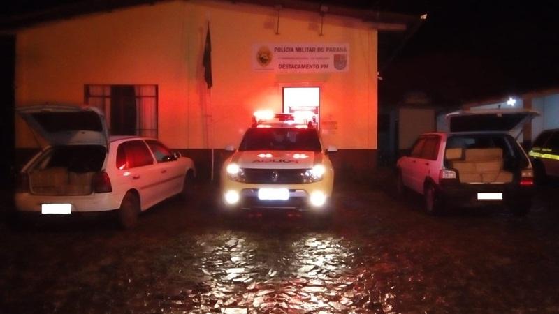 Veículos carregados com camarão são apreendidos em Flor da Serra do Sul