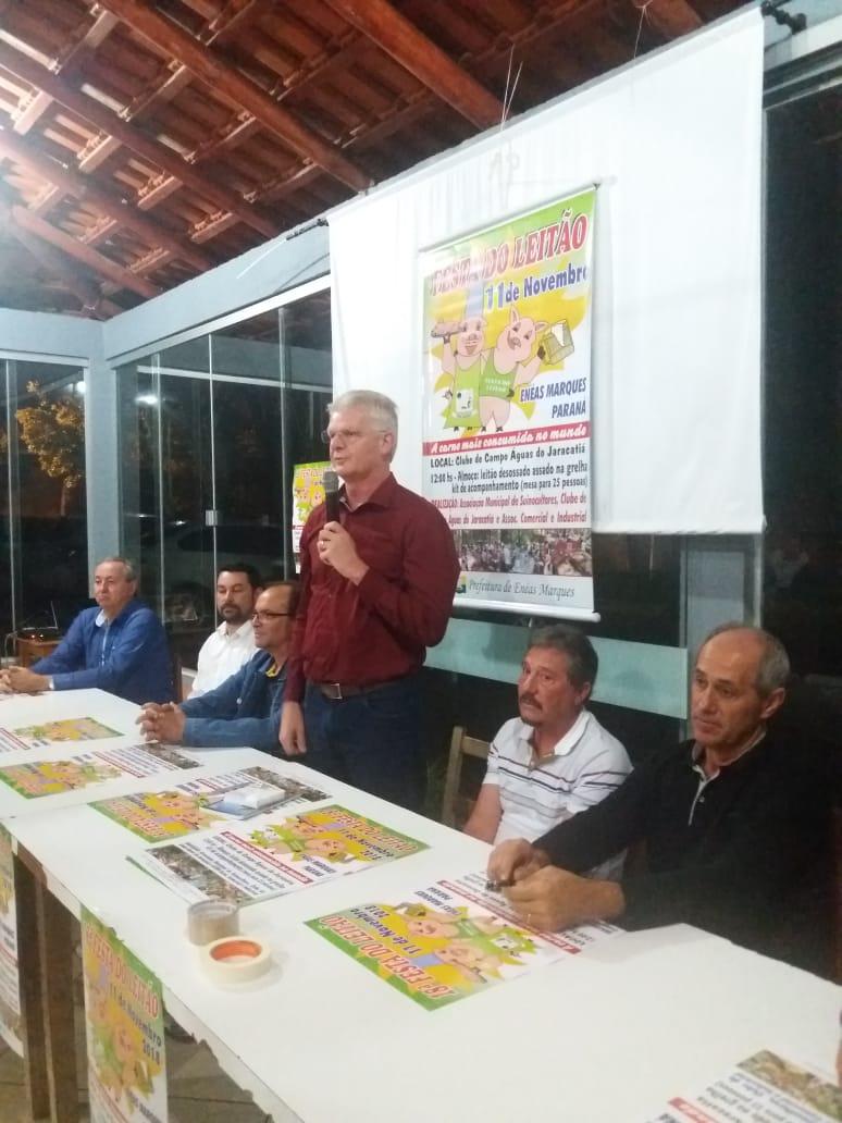 Festa do leitão em Enéas quer atrair 3 mil pessoas