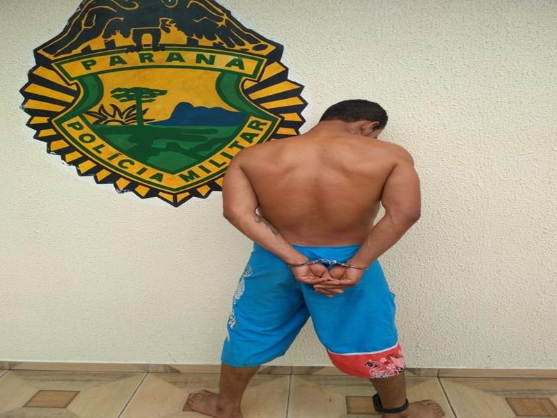 Suspeito de furtos é preso pela Polícia Militar