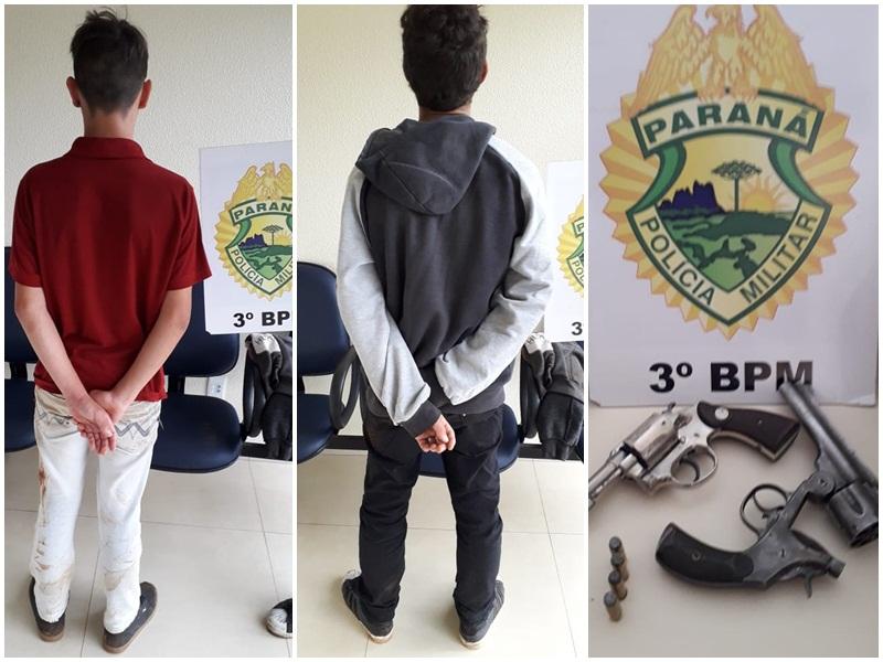 Menores suspeitos de assalto são apreendidos em Mangueirinha