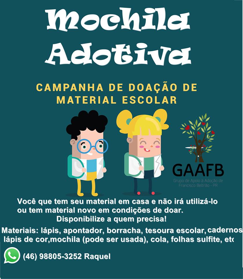 Campanha ajuda alunos carentes de Francisco Beltrão