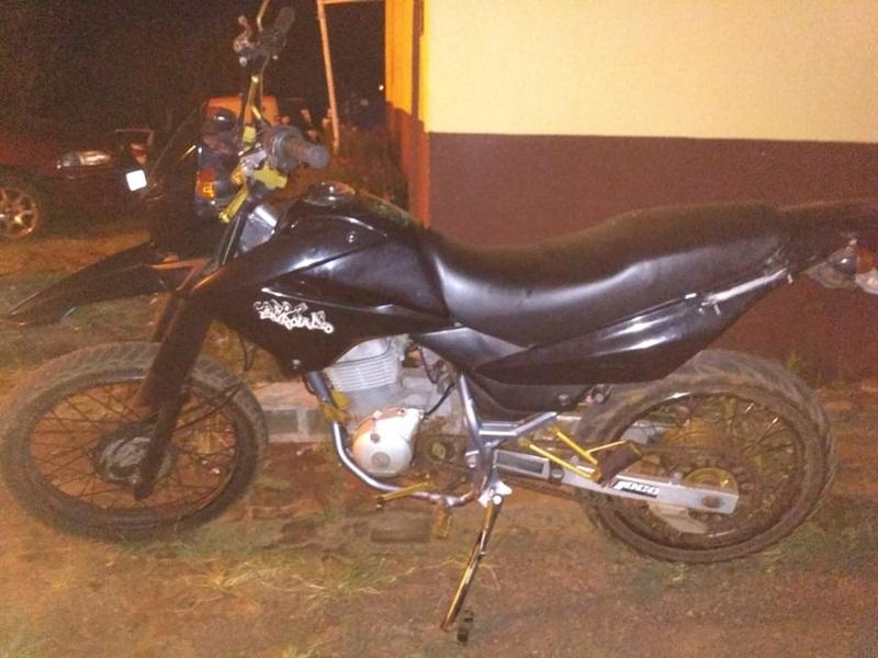 Polícia Militar recupera moto furtada em Pato Branco