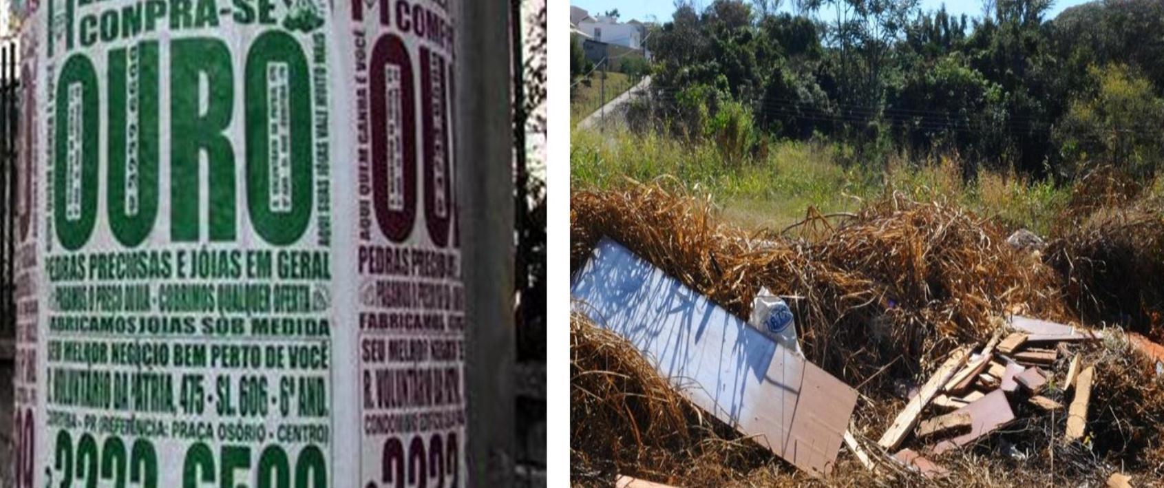 Leis combatem poluição visual e promovem limpeza urbana