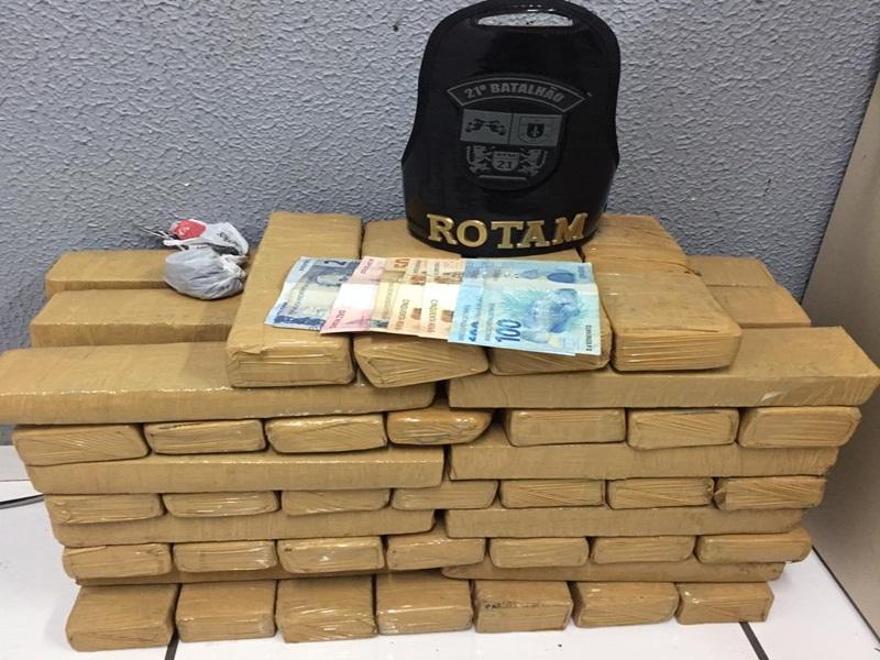 Polícia Militar apreende mais de 34 Kg de maconha em Francisco Beltrão