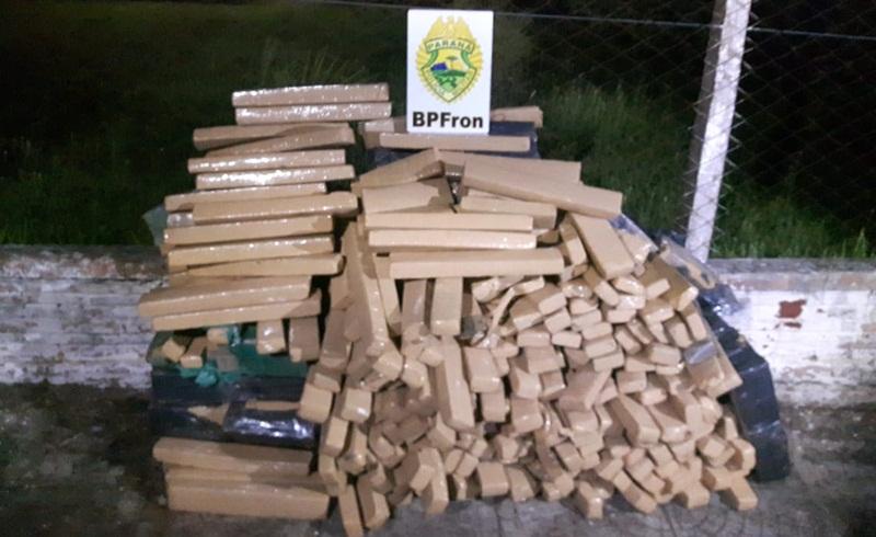 Após perseguição, BPFron apreende quase 350 Kg de maconha