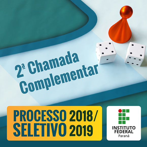 IFPR divulga 2ª Chamada Complementar do Vestibular 2018/2019