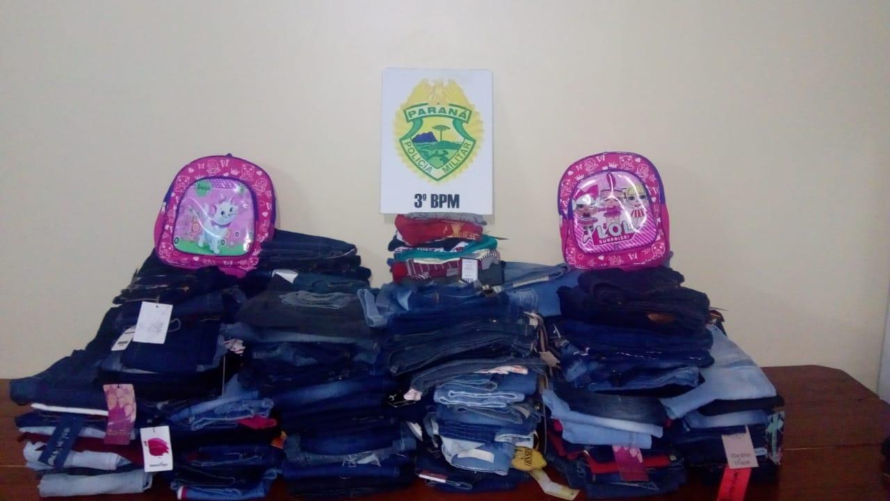 Roupas e mochilas furtadas em Clevelândia são recuperadas em Palmas