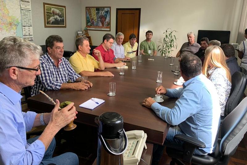 prefeitos da Cantu participam de reunião com o secretário Ortigara
