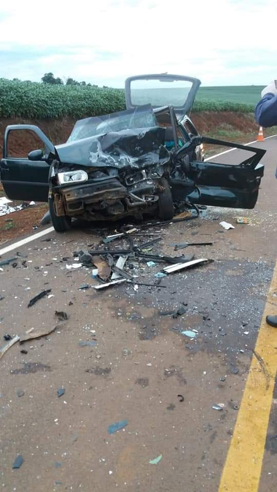 Uma pessoa morta e três feridas em acidente no interior de Clevelândia
