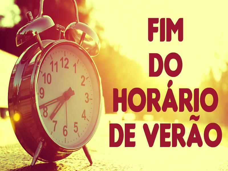 Sábado termina o horário brasileiro de verão