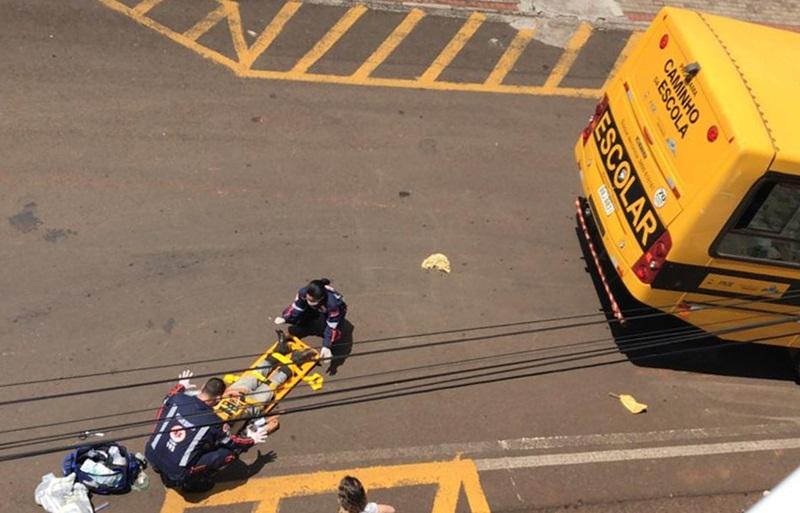 Ciclista atropelado por ônibus morre no hospital em Dois Vizinhos