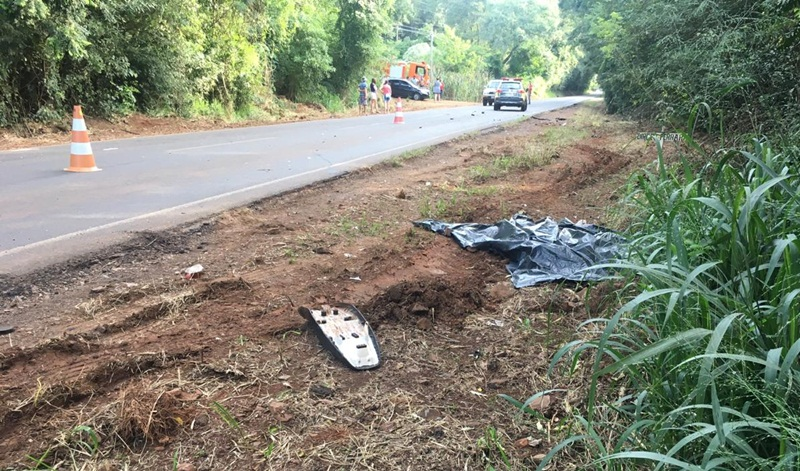 Motociclista morre em acidente na PR-281, em Salto do Lontra