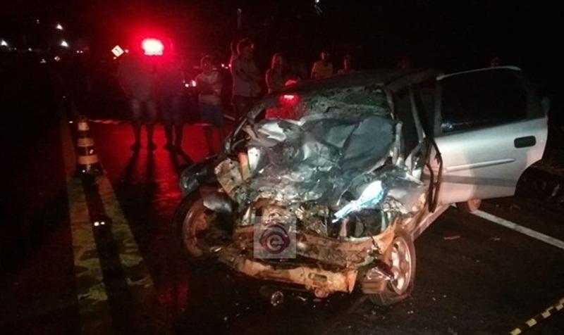 Colisão frontal deixa uma vítima fatal na BR-373, em Candói