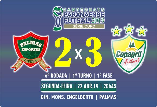 PalmasNet evolui, mas não evita derrota para Copagril