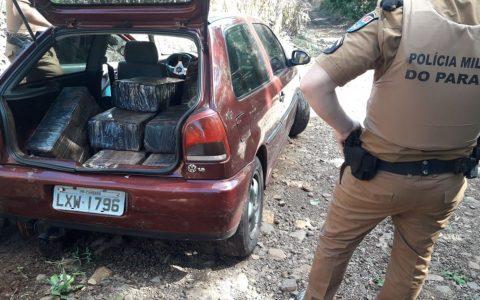 Carro carregado com maconha é apreendido em Manfrinópolis