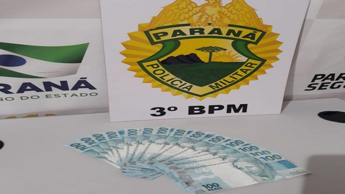 Polícia Militar apreende cédulas falsas em Coronel Vivida