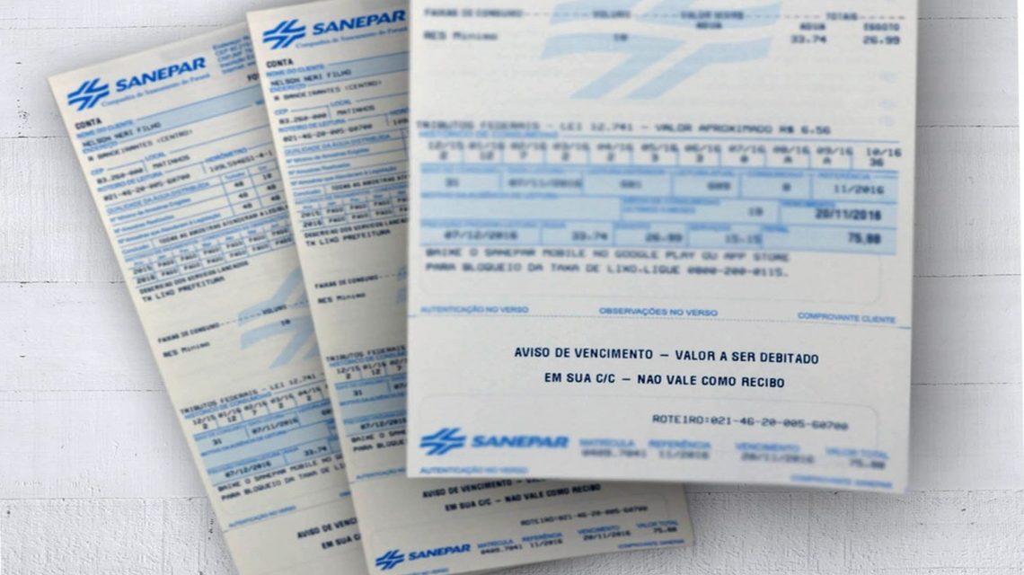 Cautelar do TCE suspende reajuste de tarifas da Sanepar