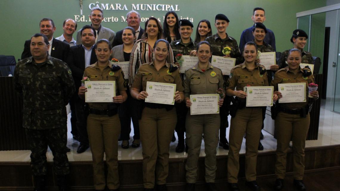 Homenagens para mulheres das forças de segurança em Palmas