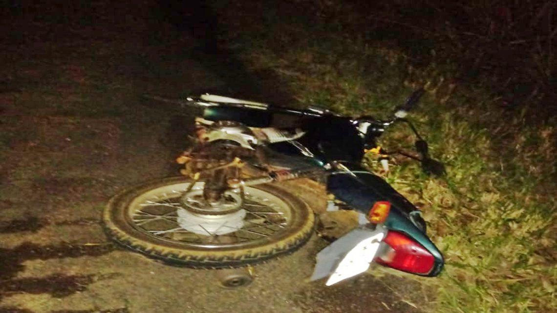 Motociclista fica ferido em acidente na BR-373, em Candói
