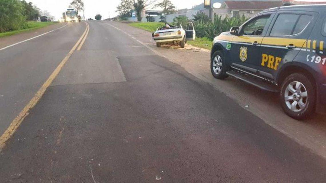 Pai e filho que viajavam à Saudade do Iguaçu morrem vítimas de acidente no RS