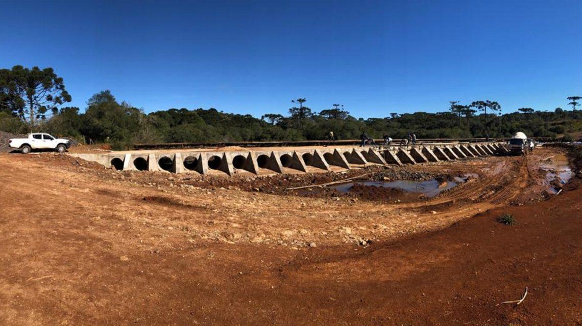 Metade das obras da nova ponte do Abarracamento já foi concluída