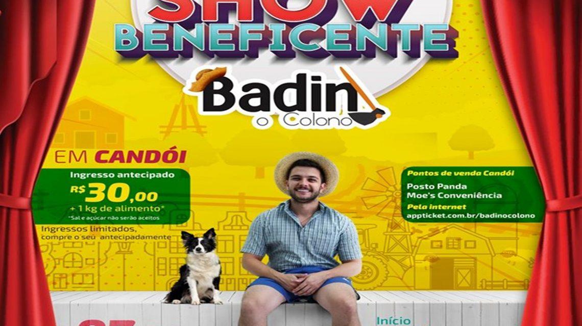 Badin, O Colono se apresenta nesta sexta-feira em Candói
