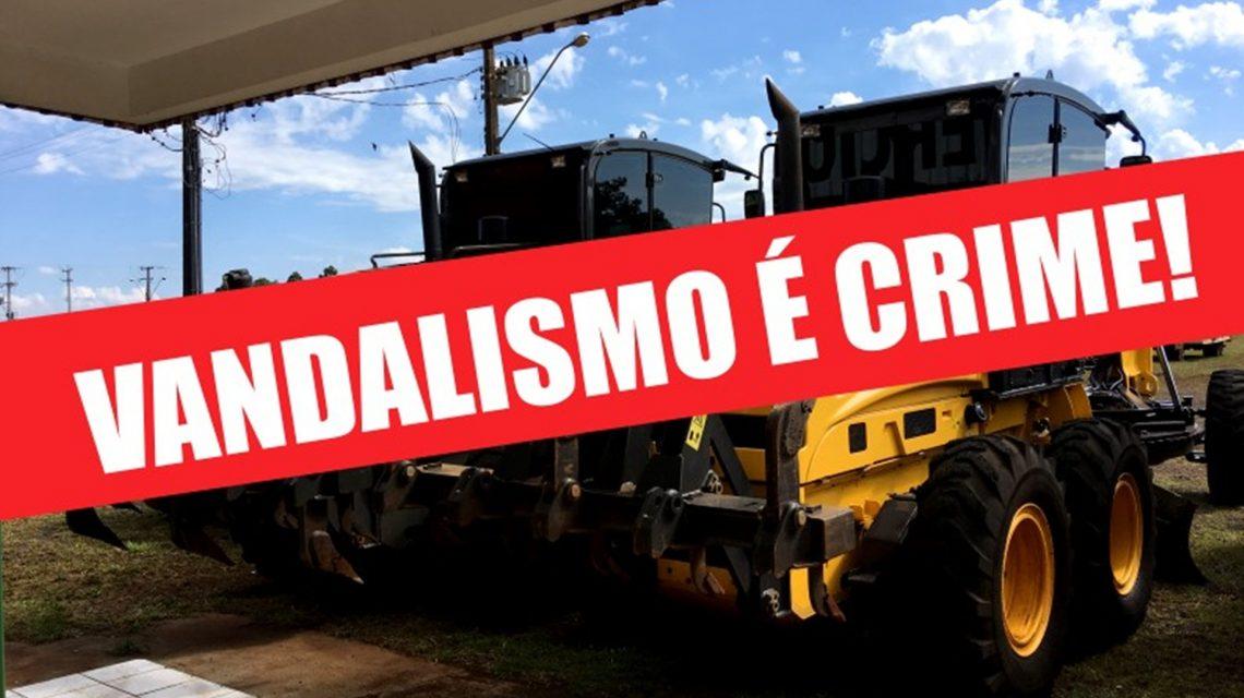 Vândalos danificam e furtam itens de máquinas em Rio Bonito do Iguaçu