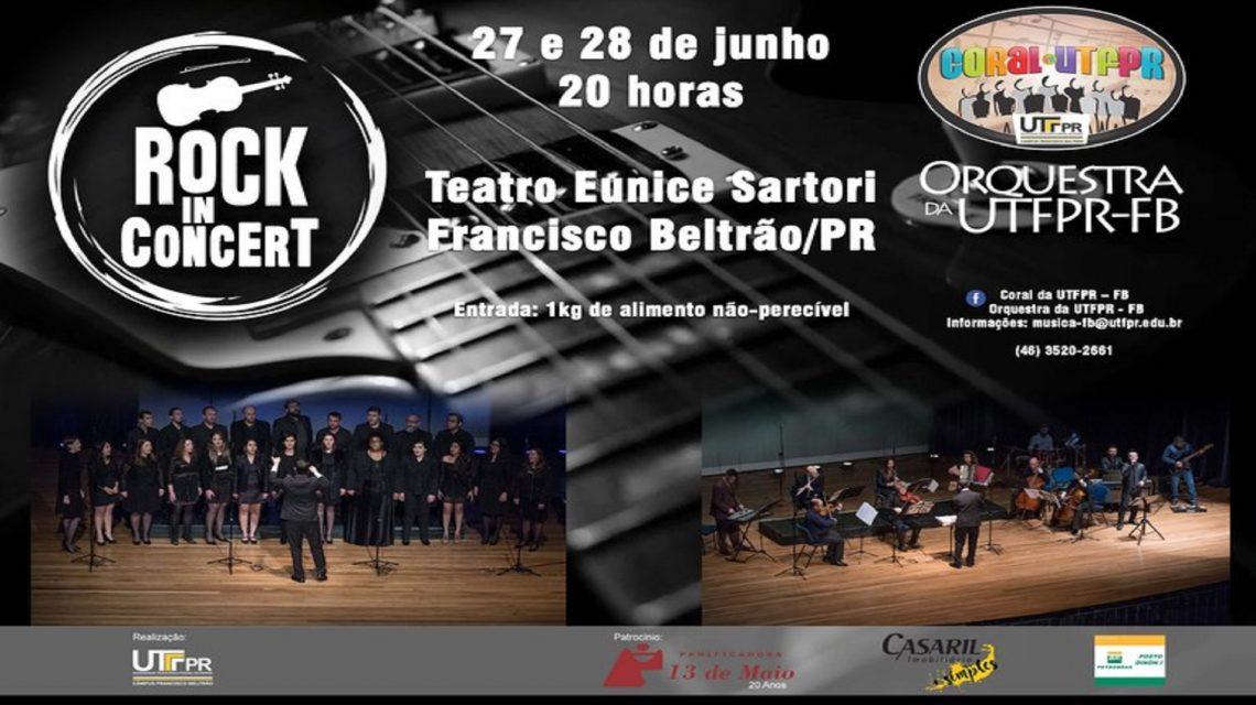 Coral e Orquestra da UTFPR realizam espetáculo 'Rock in Concert'
