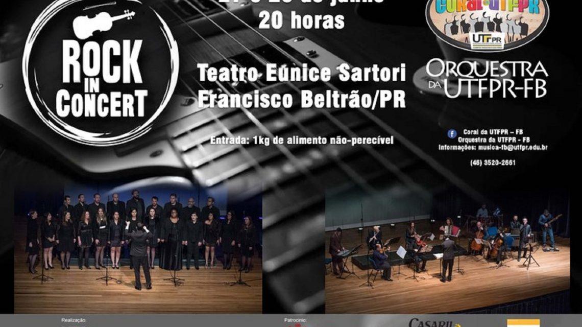 Coral e Orquestra da UTFPR de Francisco Beltrão promove o Rock in Concert