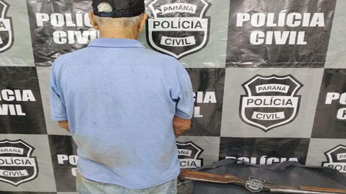 Homem é detido com espingarda no interior de Rio Bonito do Iguaçu