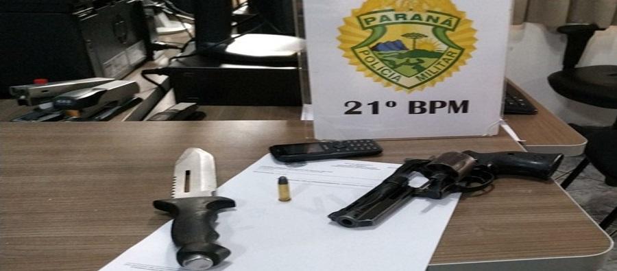 Homem é preso portando arma de fogo em Francisco Beltrão