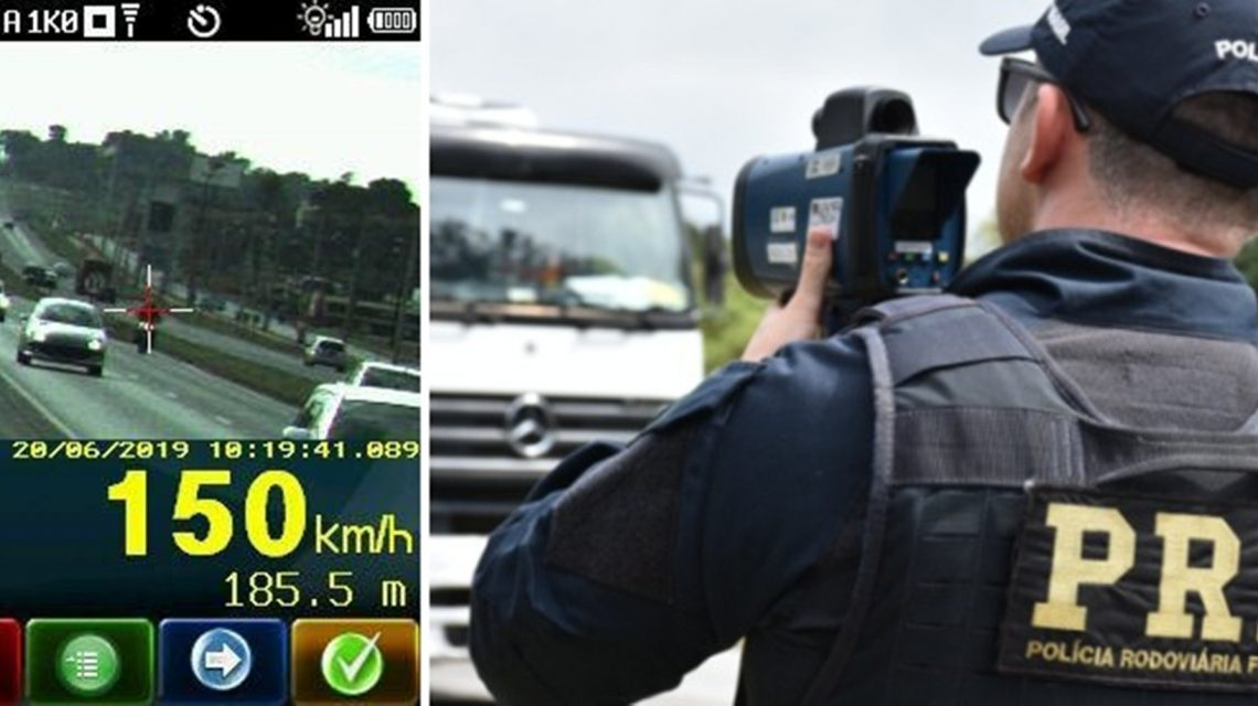 PRF flagra mais de dois mil veículos excedendo a velocidade nas estradas do PR