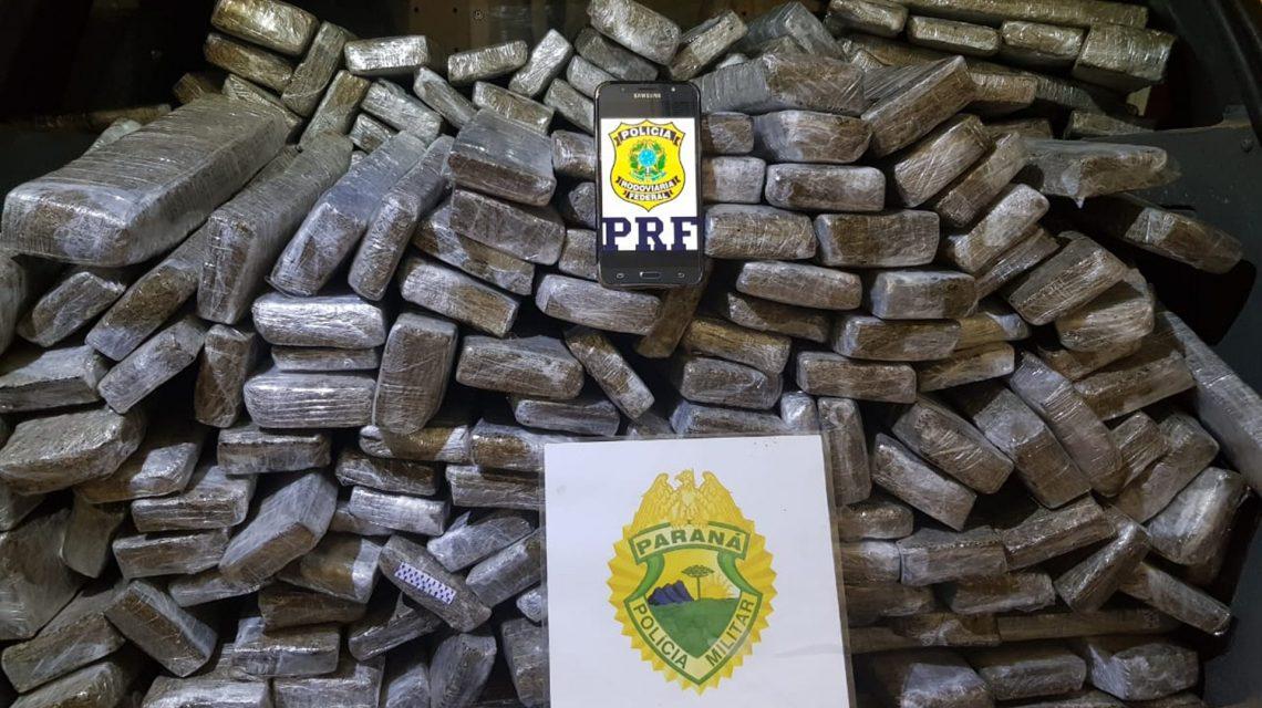 Em operação conjunta, PM e PRF apreendem 229 Kg de maconha em Marmeleiro