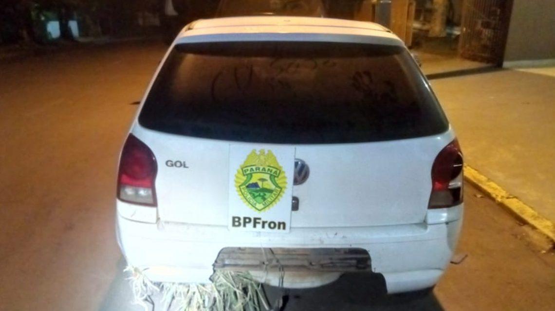 BPFron apreende carro carregado com 130 Kg de maconha no Sudoeste