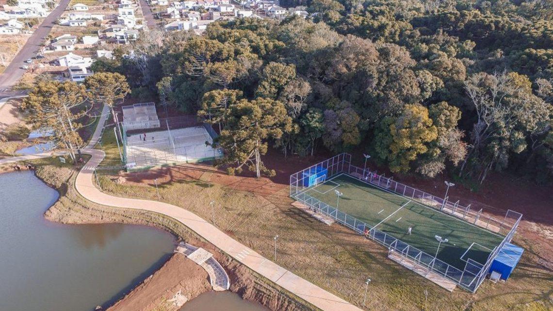 Em Chopinzinho, Parque do Lago possibilita diferentes práticas de atividades físicas