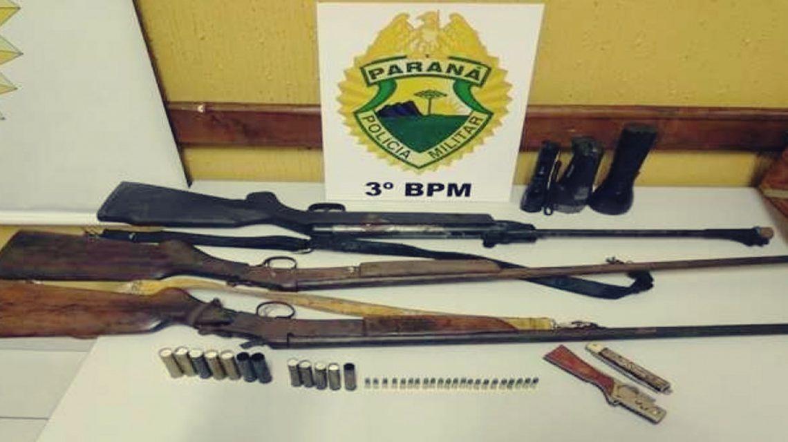 Armas e munições são apreendidas em São João