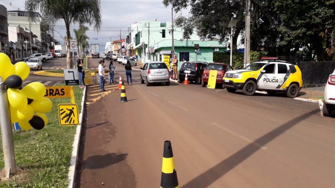 Polícia Militar participa de atividades da campanha do Maio Amarelo
