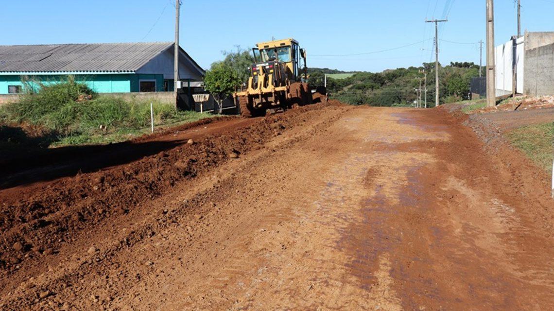 Obras de pavimentação asfáltica são iniciadas em Candói